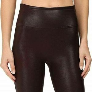 Spanx By Sara Blakely XL Faux Leather Leggings